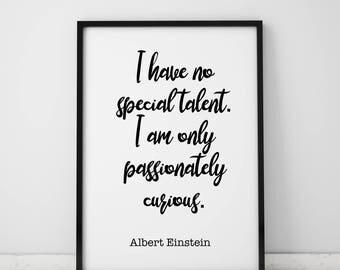 Inspirational Wall Art Inspirational Quote Albert Einstein Quote Print Albert Einstein Art Albert Einstein Poster Alber Einstein Wall Art