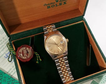 Rolex 1630 Oyster Perpetual Datejust mens chronometer automatic from 1987 steel/Gold