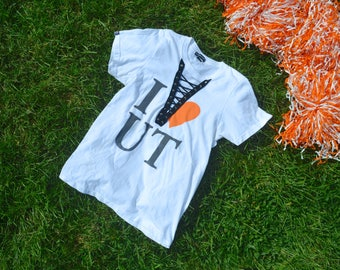 Custom Handmade Tennessee Vols Lace Up Tee