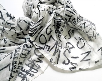 The WAS and IS WHITE 100% Modal Scarf