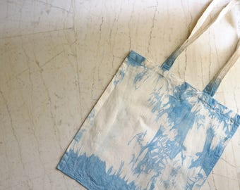 Blue Dip Dye Canvas Tote bag