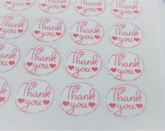 Thank you product labels, shopping appreciation labels, adhesive stickers, business stickers, product labels,  round stickers