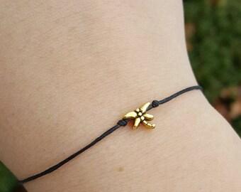 Nature Jewelry, Dragonfly Bracelet, Dainty Bracelet, Dragonfly Jewelry, Dragonfly Wish Bracelet, Dragonfly Friendship Bracelet, Dragonfly