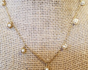 Vintage Avon Pearl Heart Necklace, Avon necklace, avon heart necklace, avon pearl necklace, avon pearl heart