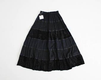black velvet maxi skirt | gothic skirt | black bohemian skirt