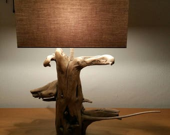 Original Driftwood lamp from both its shape