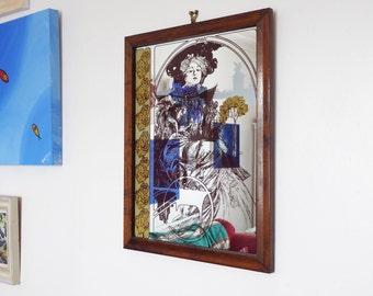Alphonse Mucha mirror, Art Nouveau mirror, large bohemian mirror, boho