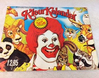 Vintage McDonald de coloriage calendrier - Coloriage livre McDonald promotionnel