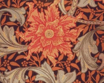 William Morris Marigold Counted Cross Stitch Pattern / Chart, Instant Digital Download  (AP292)