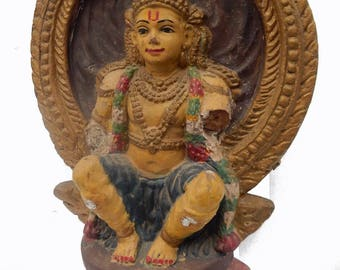 Statue terracotta Divali Kerala H = 35 cm India P15 South Indian deity