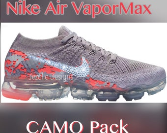 NEW! Bling Nike Air VaporMax Flyknit Running Shoes with Swarovski Crystals - Custom Bling Nike Shoes - Swarovski Nikes - Blinged Out Nikes