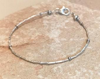 Silver bracelet, dainty bracelet, small bracelet, sterling silver bracelet, sundance style bracelet, gift for her, gift for wife