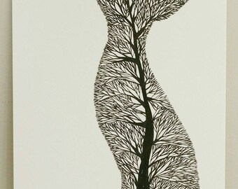 Fox Tree Silhouette III