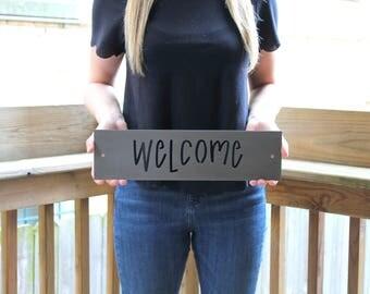 Welcome Sign, Metal Welcome Sign, Metal Sign