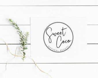 Circle logo, Minimalist logo design, Blog logo, Custom branding, Photography logo, Logo branding, Business logo, Blogger logo, Logo kit