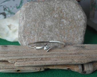 Vintage Scottish Sterling Silver Kit Heath CZ Bangle / bracelet