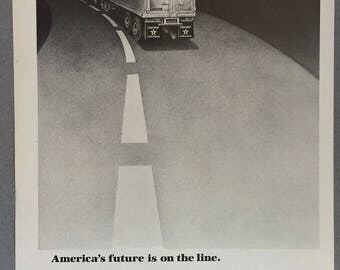 1979 Fruehauf Print Ad - Trucking Indsutry - Frieght  - Trucking Print