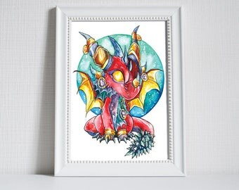 Print ~ Chibi Alexstrasza from World of Warcraft