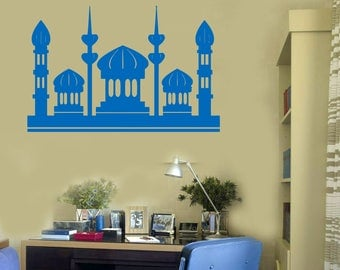 Wall Vinyl Decal  Magical Eastern City Towers High Minarets Living Room Decor  (#2432dn)