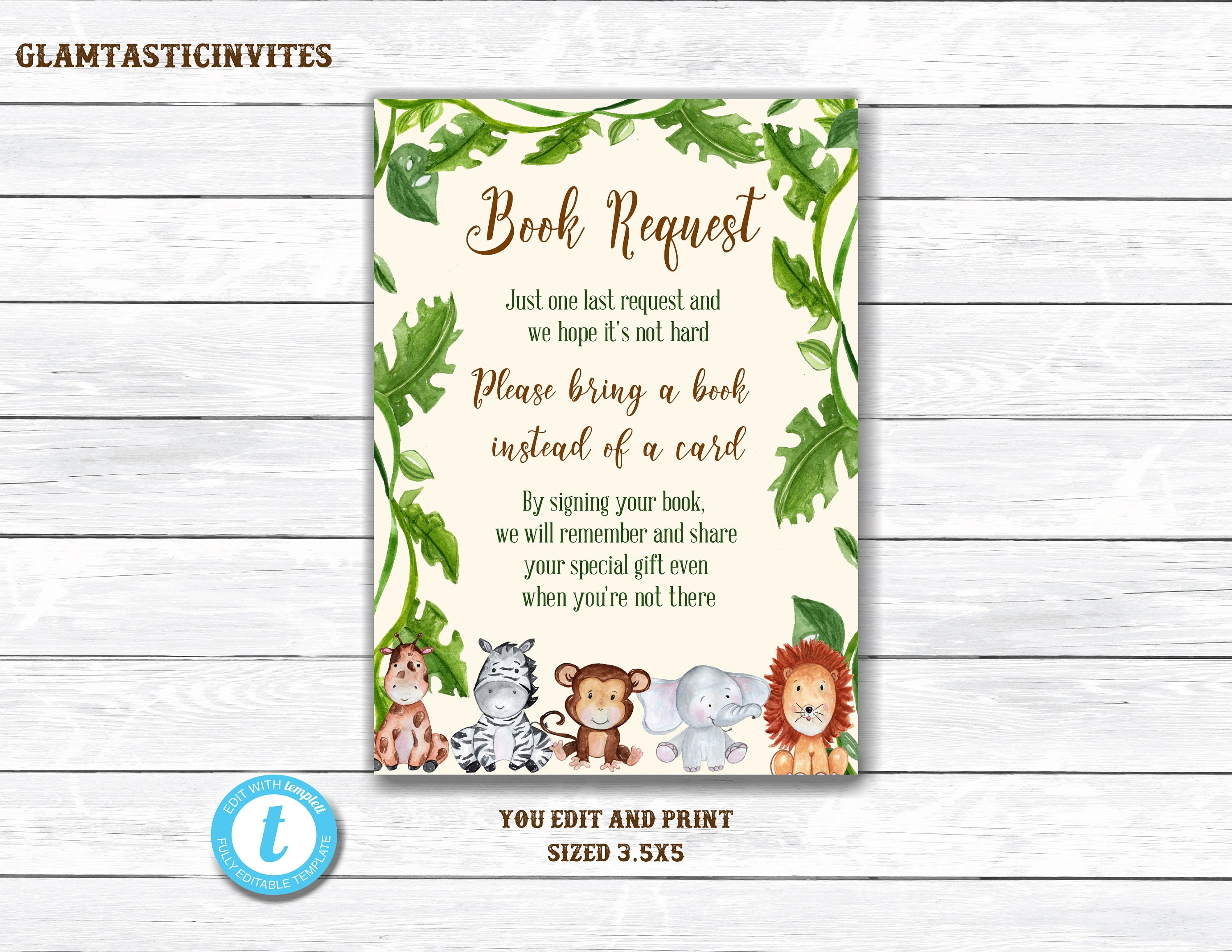 baby shower game booklet template - baby shower book request jungle baby shower jungle
