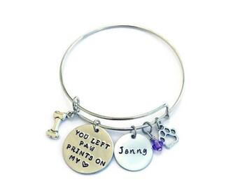 Dog Memorial Bracelet - Pet Memorial Jewelry - Memorial Bracelet - Pet Remembrance - Loss of Pet - Dog Memorial - Pet Sympathy Gift