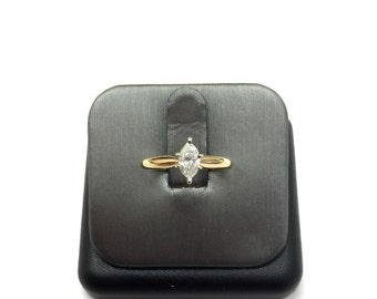 Simply Solitaire Marquise Diamond ring in 14K yellow gold