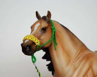 Breyer/Peter Stone 1:9 Scale Model Horse Rope Halter With Stitched Noseband and Lead Rope