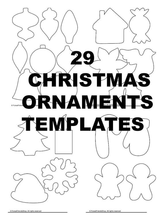Christmas ornaments templates pdf instant download diy christmas ornaments templates pdf instant download diy christmas ornament easy felt oranment applique template diy advent calendar pronofoot35fo Image collections