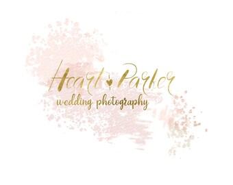 Photography watermark, Pre-made logo design, Black and blue, Branding kit, Calligraphy Logo, Photography brand, Blog Logo, Architect, chef