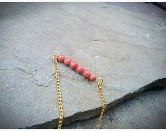 SALE,Gold Sandstone,Gemstone,Bead Bar,Bracelet,Simple,Minimalist,Dainty,Unique,Pretty,Casual,Elegant,Nature,Natural,Stone,Beads,Woodsy,Cute