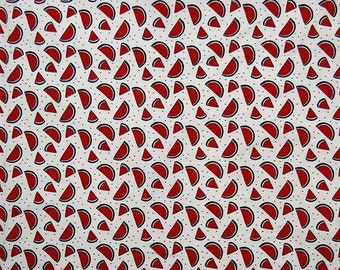 "Handcrafted Dressmaking Fabric, Fruit Print, White Fabric, Sewing Decor, 45"" Inch Indian Cotton Fabric By The Yard ZBC8215A"