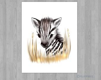 Zebra nursery wall art, nursery decor, safari nursery art, nursery wall decor, baby's nursery art, nursery decor boy