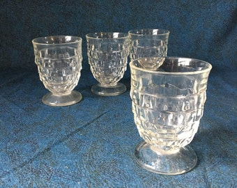 Vintage Indiana Colony Whitehall 9 Ounce Tumblers, Set of 4