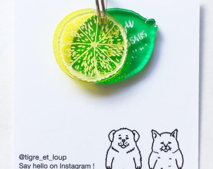 Médaillon d'identité pour chien ou chat - Citron vert