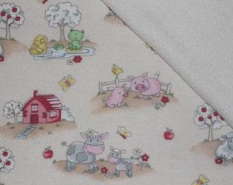 On the farm! Pet Blanket, Farm Animals Blanket, Farm Blanket, Baby Blanket, Kids Blanket