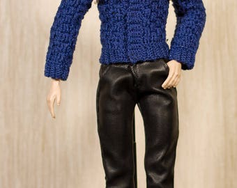 Ken clothes Ken crochet Handmade crochet jacket for Ken dolls, Fashion Royalty and other male dolls with similar body size