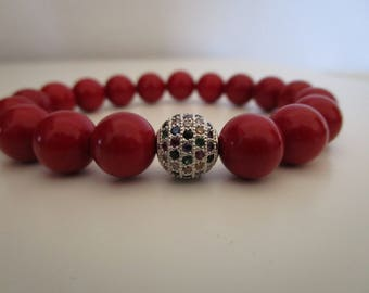 Coral, bracelet red coral, bracelets, bracelet of natural stones, puljer, gift, gift for women, jewelry, beaded bracelet, gift