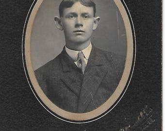 Young Man Portrait - 1910s - Antique Photo