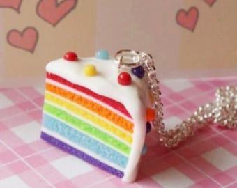 Noah Rainbow Scented Slice Pie Necklace