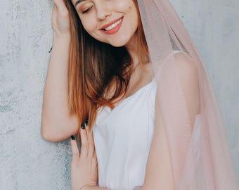 English net veil, pink veil, wedding veil, veil wedding, bridal veil, veil bridal