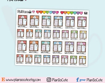 Waiting Stickers, Lencho Pig Planner Stickers -168