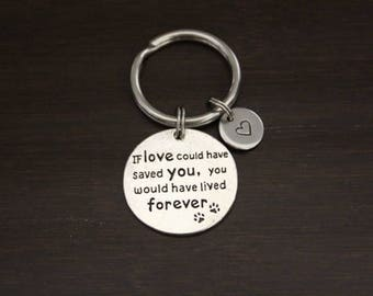 If Love Could Have Saved You, You Would Have Lived Forever KeyRing/Keychain/ZipperPull-Dog Memorial-Cat Memorial-Pet Memorial Keychain-I/B/H
