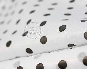 Polka Dot Tissue Paper, 10 Sheets, 20x30 Inch, Black and White Tissue, Polka Dots, Wedding Gift Wrap, Polka Dot Gift Wrap, White Tissue
