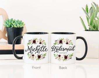 Gift for Bridal Party - Bridesmaid Mug - Maid of Honor Mug - Mother of the Groom Mug - Mother of the Bride Mug - Fall Mugs - Wedding Mugs
