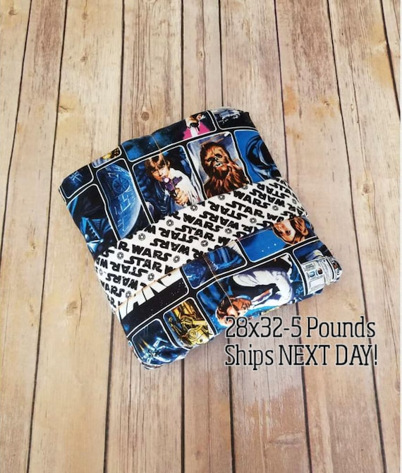 Movie, 5 Pound, WEIGHTED BLANKET, Ready To Ship, 5 pounds, 28x32 for Autism, Sensory, ADHD, Calming, Anxiety,