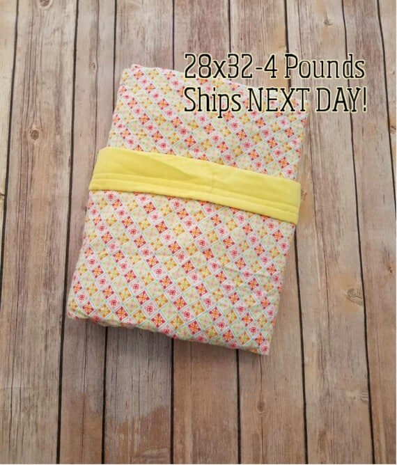 Tile, 4 Pound,WEIGHTED BLANKET, 4 pounds, 28x32, for Autism, Sensory, ADHD, Calming, Anxiety,