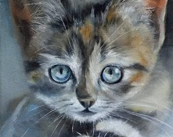 Cat oil painting Kitten cat painting Kitten cat painting oil painting
