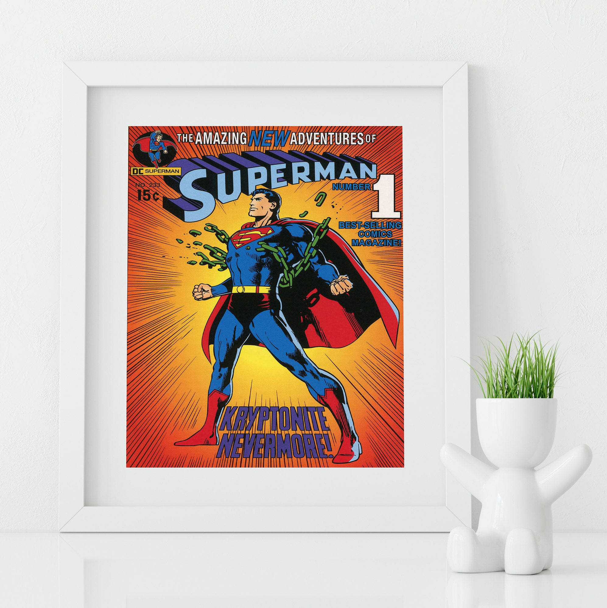 Dc Comics Wall Art superman poster / superhero wall art / superman art / nerd gift