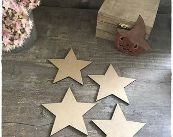 A wooden star raw diameter 10cm thickness 3mm