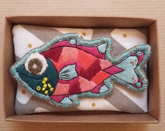 Cinderella fish brooch